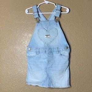 Oshkosh B'Gosh toddler girl jean overall dress